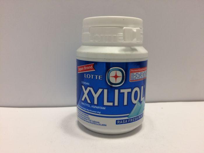 LOTTE Xylitol Gum Bottle (Fresh Mint)