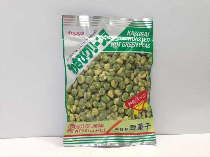 KASUGAI Roasted Green Pea Hot (Wasabi)74g