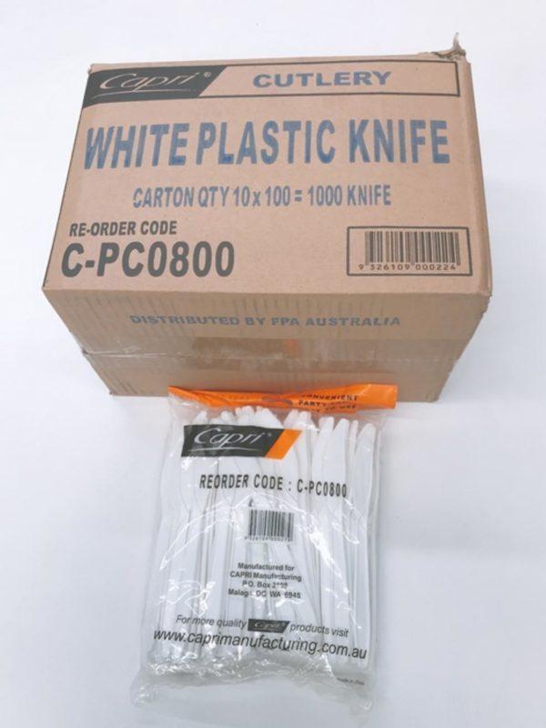 Plastic White Knife
