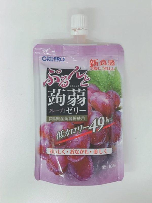 ORIHIRO Konjac jelly Pouch (Grape) 130g