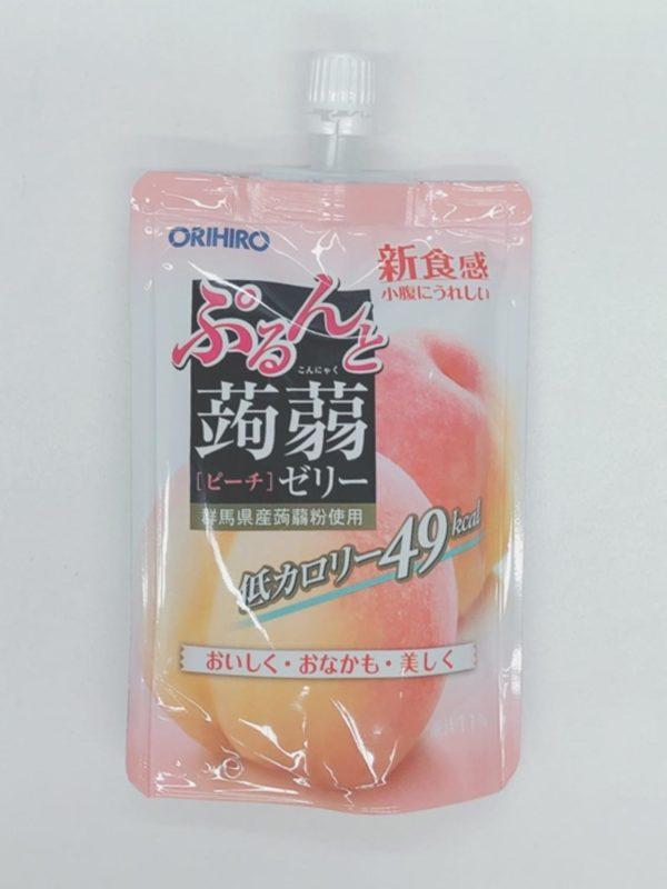 ORIHIRO Konjac jelly (Peach)130g