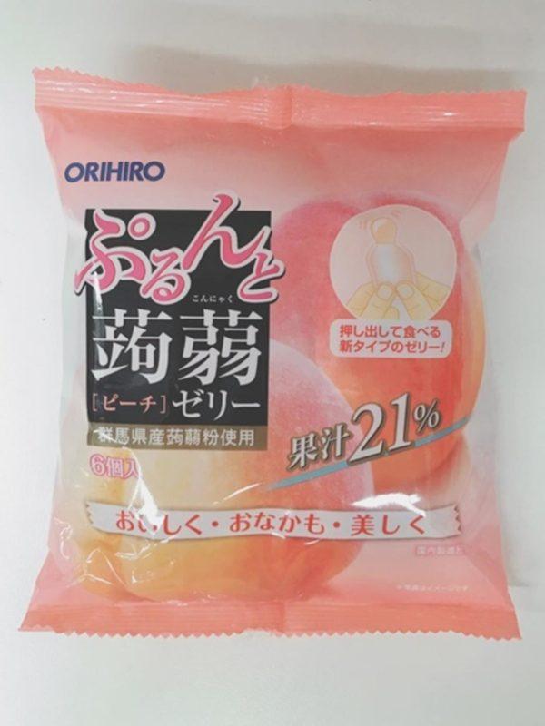 ORIHIRO Konjac jelly  (Peach)20gx6P