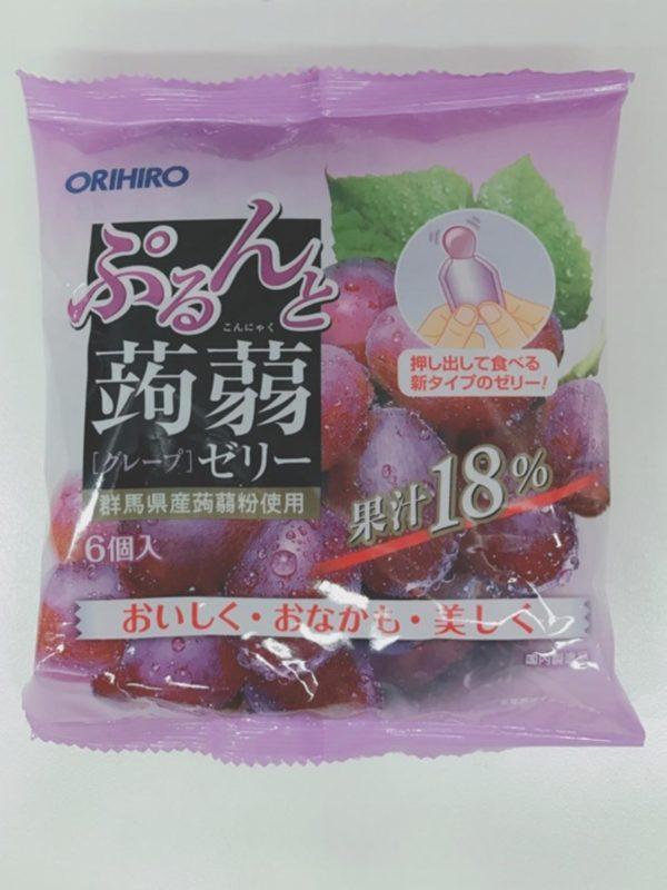 ORIHIRO Konjac jelly  (Grape)20gx6P