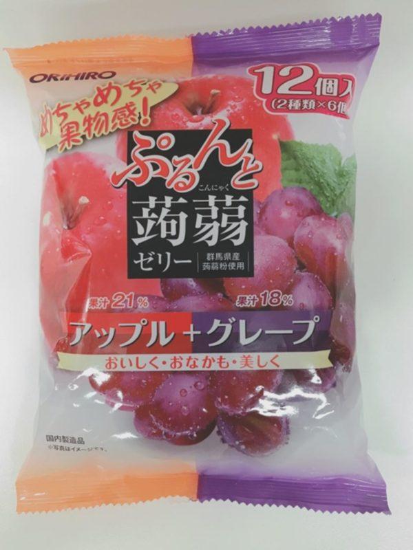 ORIHIRO Konjac jelly  (Apple & Grape)20gx12P