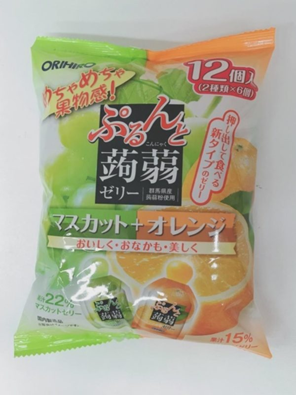 ORIHIRO Konjac jelly (Muscat & Orange)20gx12P