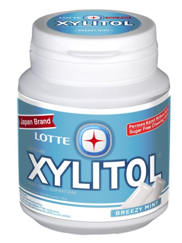 LOTTE Xylitol Gum Bottle (Brizzy Mint)