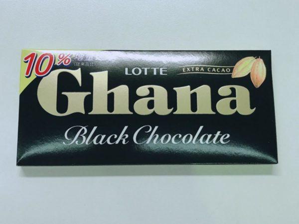LOTTE Ghana Chocolate (Black) 50g
