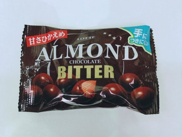 LOTTE Pop Joy Almond Chocolate (Bitter)35g