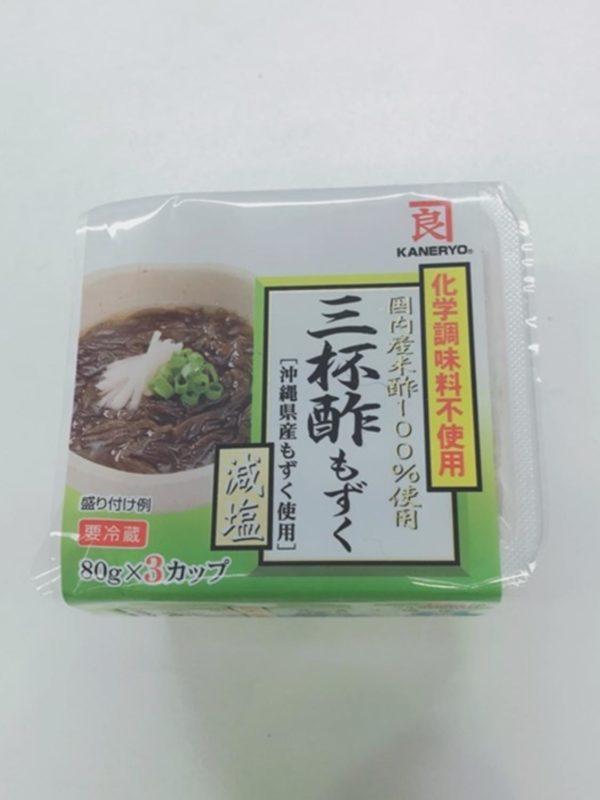 KANERYO Mozuku Seaweed with Vinegar 80gx3P