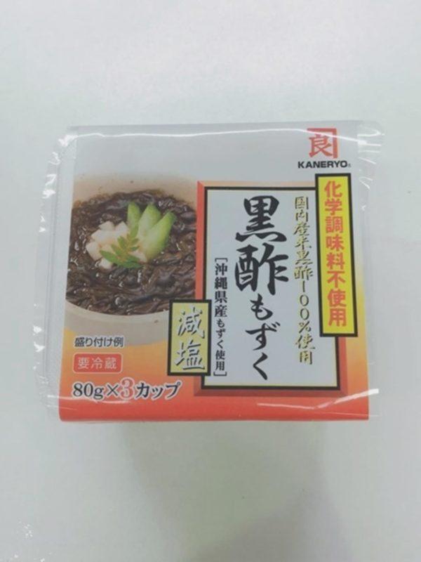 KANERYO Mozuku Seaweed with Black Vinegar 80gx3P